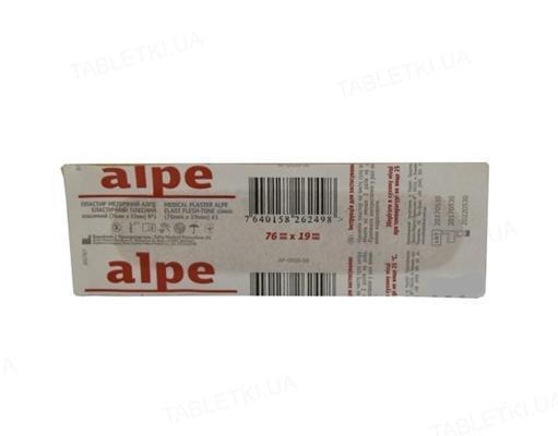 Пластир бактерицидний Alpe Класичний на тканинній основі тілесний 1,9 см х 7,6 см, 1 штука