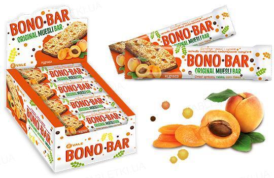 Батончик-мюсли Bono Bar с курагой частично глазурированный, 40 г